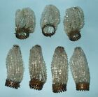 LOT OF 7 ANTIQUE/VINTAGE BEADED LIGHT BULB COVERS