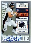 2010 Panini Playoff Contenders Rookie Auto Tim Tebow