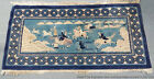 Old Chinese Art Deco Pictoral Warlords Bear Hunting Oriental Persian Rug Carpet