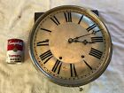 ANTIQUE NEW HAVEN SPRING DRIVEN GRANDFATHER CLOCK MOVEMENT AND DIAL