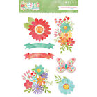 Scrapbooking Stickers Crafts Photoplay Layered Spring Garden Flowers Butterfly