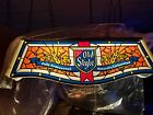 NEW Vintage 1980 Old Style Beer pool table lighted sign stained glass bar light