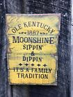 Old Kentucky  Moonshine -Primitive Rustic Country Home Decor