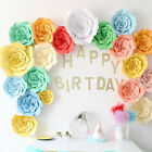 2x Large Paper Flowers Backdrop Birthday Wall Decor Party Decoration 20cm 8