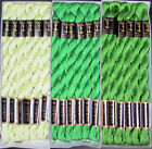 36x Needlepoint Embroidery THREAD Anchor Cotton Pearl 5 Greens FL210