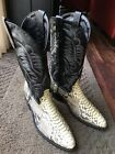 Mens LAREDO SNAKE SKIN Python Leather Cowboy Boots Sz 105D Made In Mexico