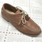 BASS Weejuns Womens Shoes 8 M Brown Leather Oxfords Tassels Moc Toe Lace Up