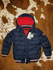 new DIESEL kids boys youth coat down jacket blue size L 14 16 MSRP 249