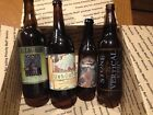 Lot 4 Empty Rare Craft Brew Bottles Dogfish Allagash Reserve Stone Vertical Epic