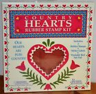 Country Hearts Rubber Stampede Kit Lot of 7 Foam Stamps 95159 USA New
