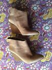 Nine West Nude Leather Ankle Boots 75