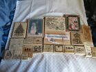 HUGE CHRISTMAS HAND STAMP LOT  25 STAMPS STAMPIN UP AND OTHERS