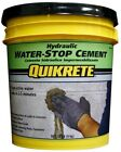 QUIKRETE 20 lb. Hydraulic Running Water Stop Cement Concrete Leak Repair Gray