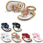 Summer Baby Girls Flip flops Sandals Leather Bowknot Shoes Anti slip Prewalkers
