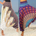 Women Boho Baggy Hippie Harem Aladdin Gypsy Gym Yoga Pants Palazzo Wide Trousers
