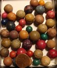 7 Huge Glass Boulder Jewel Marbles Ruby Red Purple Amber Yellow Blue 1 1 2 WOW