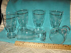 Rare Vintage Federal Clear Beer/Water Glass Tumblers Set of 6
