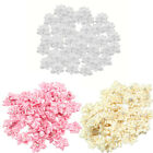 40pcs Satin Ribbon Bow Flower Rhinestone Appliques Wedding Decor DIY Sewing