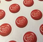 63 Happy Valentines Day Stickers ENVELOPE PACKAGE SEALS LABELS