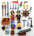 NEW LEGO PIRATE FAMILY - 4 MINIFIGS figures minifigures captain wife kids cannon