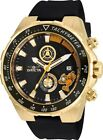 Invicta 25160 Character Collection Men's 49mm Chrono Gold-Tone Steel Black Dial