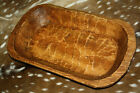 Carved Wooden Dough Bowl Primitive Wood Trencher Tray Rustic Home Decor 21 inch