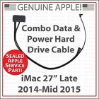 NEW Apple 923 00092 Combo Data  Power Hard Drive Cable for iMac 27 2014 2015