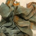 Hand Dyed silk Fabric Silk crepe 12 x 52 inches in diameter