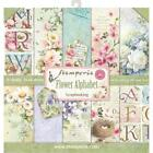 STAMPERIA DOUBLE SIDED PAPER PAD 12X12 FLOWER ALPHABET10 SHEETS