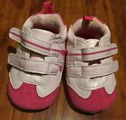 Joe Fresh Infant Girl Pink White Crib Sneaker Shoe Size 3