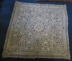 Lace Tablecloth Large Square Hand Made Cream 72