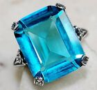 8CT London Blue Topaz 925 Solid Sterling Silver Filigree Ring Jewelry Sz 8