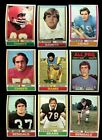 1974 TOPPS FOOTBALL LOT OF 58 ALL DIFF EXTREMELY CLEAN VENDING QUALITY *69448