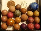 20 Vintage Antique Clay Germany Bennington Blue Shooter Collect Display Old Time