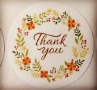 60 Thank You with Flower Ring  ENVELOPE SEALS LABELS STICKERS 2 Round