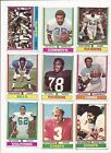 1974 TOPPS FOOTBALL --- 36 CARD LOT