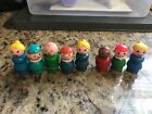 Vintage Fisher Price Little People Lot of 8 Wood Wooden Figures