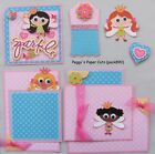 Premade Scrapbook Pages Mat Set Kit SPARKLE Girl Sewn Album Layout pack890