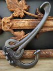 5 Art Nouveau Scroll Coat Hooks hook peg victorian iron edwardian vintage style
