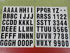VINYL STICK ON LETTERS  NUMBERS 25 VINYL LETTERS  NUMBERS INDOOR  OUT