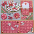 Premade Scrapbook Pages Mat Set Kit MOM Sewn Mothers Day Album Layout pack890