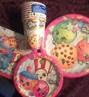 New Shopkins Birthday Party Paper Goods Bundle Plates Cups Napkins For Eight Nip