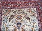 Vintage Very Fine Persian Isfahan Silk And Wool Rug.