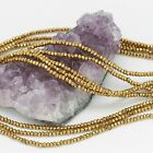 100 pcs 3x2mm Chinese Crystal Glass Beads Faceted Rondelle Metallic Gold