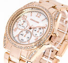Damenuhr Excellanc Farbe rose gold 40mm Strass Armbanduhr analog Metallband #1