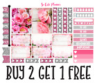 300 Pink Roses Kit Sample Planner Stickers Erin Condren Happy Planner