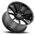 20 BLAQUE DIAMOND BD11 BLACK CONCAVE WHEELS RIMS FITS INFINITI Q50 SEDAN