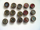 GLASS EARLY 1900s CHICAGO ELEVATOR NUMBER BUTTON 15  PIECE LOT