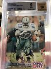 1992 Pro Set Embossed autograph Emmitt Smith card 429 1000 FACTORY AUTO BGS 9