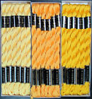 30x Needlepoint Embroidery THREAD Anchor Cotton Pearl 5 Yellows FL83